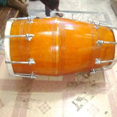 "best new dholak^mango_wood""bolt fitting,dhollki nice sound best offer dholak"