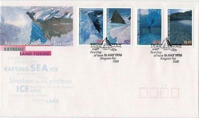 Australian Antarctic Territory AAT 1996 First Day Cover FDC - Extreme Land Forms