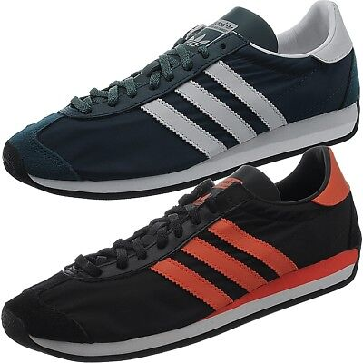 brand new e04f8 7478d Adidas Country OG mens low-top sneakers blue or black casual shoes NEW