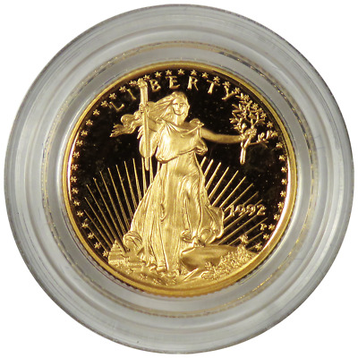 1992 - P Proof $5 American Gold Eagle 1/10 oz in capsule