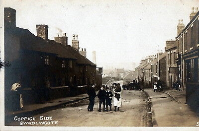 Postcard - Lovely R.P. of Coppice Side, Swadlincote, Derbyshire. Looks Edwardian