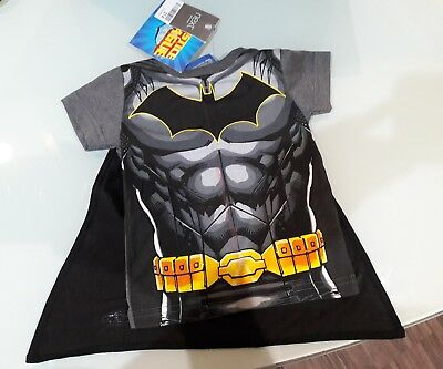 Bnwt Baby Boys Next Batman Top With Detachable Cape - 9-12 Months