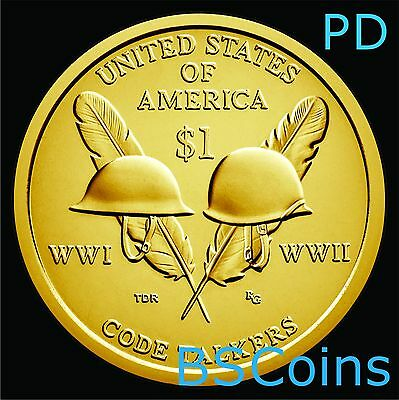 2016 P&D NATIVE AMERICAN Code Talkers SACAGAWEA Dollar 2 Coin set - Ship TODAY!!