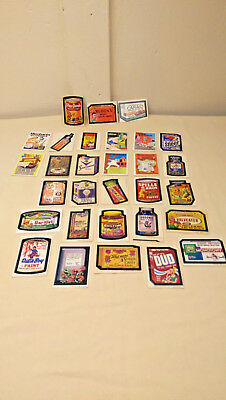 30 - 1970's Wacky Pack Cards / Stickers