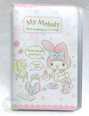 New!! SANRIO My Melody KAWAII Card Holder vinyl Transparent Pocket 16 Storage