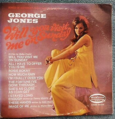 George Jones - Will You Visit Me On Sunday MS 3188 1970 MINT Condition LP