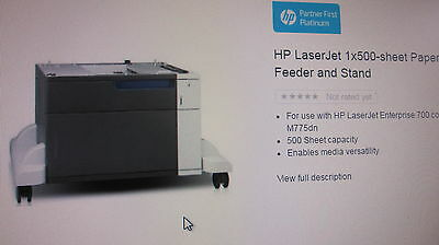 HP LaserJet M775 1x500-sheet Paper Feeder and Stand (CE792A)