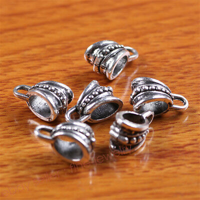 10 Piece 8*5mm Hole Charms Connector Bails Tibetan Silver Jewelry Findings 7290C