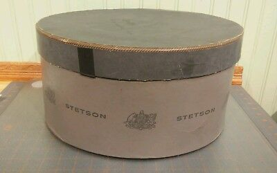 Vintage Gray STETSON Hat Box W/ Lid Box Only Grey