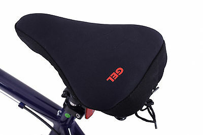 Womens bike/spin seat soft gel extreme comfort padded saddle cushion cover black