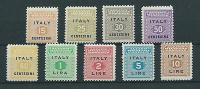 Stamps  Italy Allied Military Government Sg 583/591 Complete Mnh Set 9 Stamps