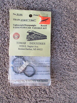Tomar #H-101 HO Scaled ATSF Chief LW Round Passenger Tailsign Kit Trains RR