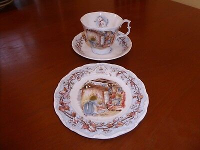 Royal Doulton Brambly Hedge Winter Cup Saucer + Plate