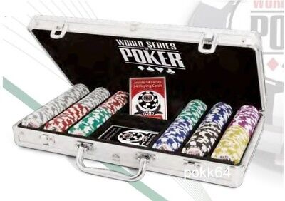 Briefcase WSOP 300 tokens World Series Poker Clay composite + 2 games cards