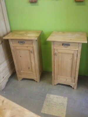 Antique,vintage,pine french pair of tall side cabinets