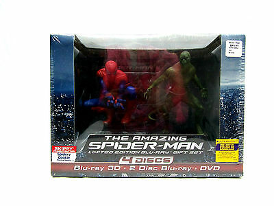 The Amazing Spider-Man Limited Edition Gift Set 3D Blu Ray 4 Disc Set ~New~ ( Ha