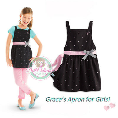 American Girl CL LE GRACES POLKA DOT APRON SIZE XS 6 for Girls Cooking Bake NEW