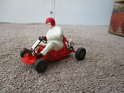 Vintage Tri Ang Scaletrix #K1 1/32 Red Go Cart Slot Car Powered