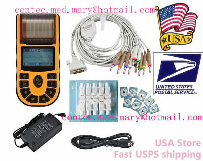 CONTEC ECG80A Portable Hand-held Single Channel ECG EKG machine w/Software,USA