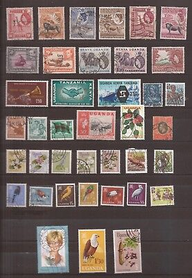 Uganda / Kenya / Tanganika   -  Lot Of Stamps