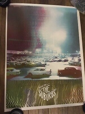 Arcade Fire Poster The Suburbs Lmtd #244/1000 Signed By Artist