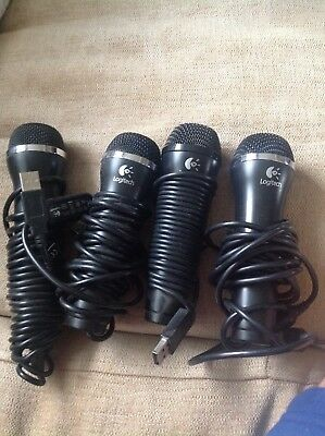 Logitech USB Microphones x4 Excellent Condition