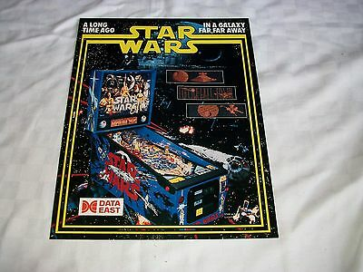 Star Wars Pinball Machine Sales Leaflet  Data East Rare Memorabilia A4 Size