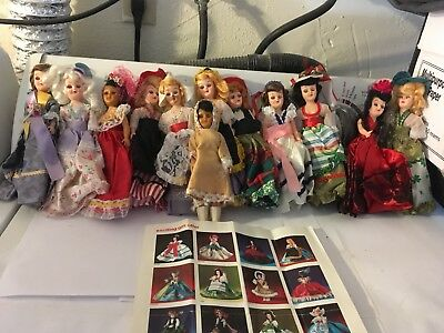 12 vtg 1960s ARCO Dolls of the world.  They are not in their original packaging