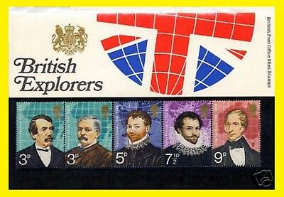1973 British Explorers Presentation Pack 50  Royal Mail issued  Mint condition