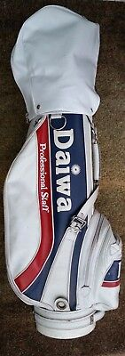 Daiwa Professional Staff Golf Bag, White With Red & Blue Detailing