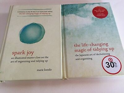 Marie Kondo: Life-Changing Magic of Tidying Up & Spark Joy.  The set of two.