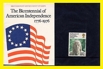1976 Bicentennial of American Independence Presentation Pack 80 Royal Mail