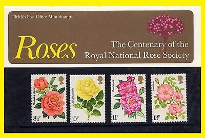 1976 Roses Centenary Presentation Pack 81 Royal Mail issued, Mint condition