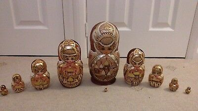 Traditional Russian nesting dolls. Set of 10 Beautiful artwork