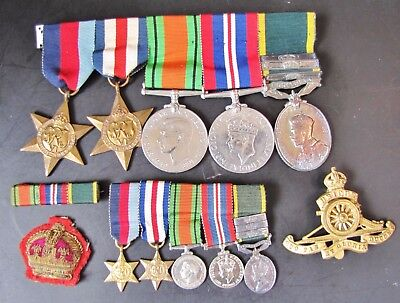 WW2 MEDAL GROUP + Miniature Dress set / George V Territorial Efficiency Medal