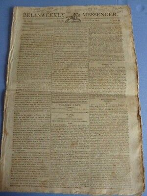 The Bell's Weekly Messenger newspaper, August 14 1803