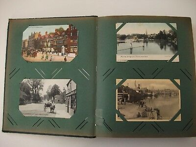 Collection x 152 vintage U.K. topographical postcards,1900's/1960's in old album