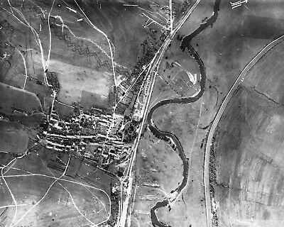 Target Recon Photo of Trenches at Brieulles Sur Meuse  1918