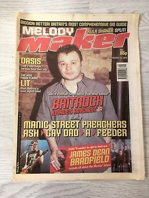 Melody Maker Music Magazine September 1999 Manic Street Preachers Cover