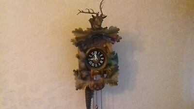 "Cuckoo Clock 8"" High Traditionally Decorated"