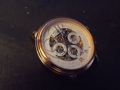 ..gents Rotary Skeleton Automatic Watch Spares Repair.