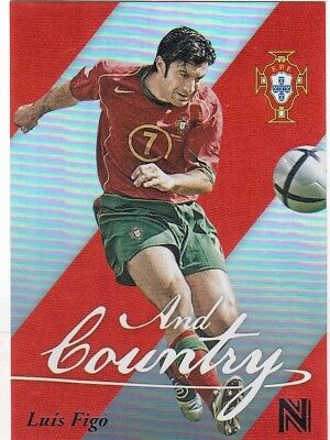 2017 Panini Nobility Soccer Luis Figo And Country Insert Card