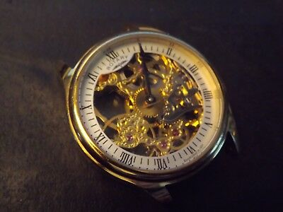 ..gents Rotary Skeleton Automatic Watch Spares Repair..