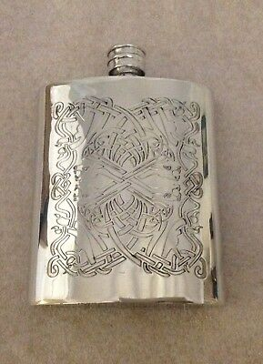 Sheffield pewter Celtic Hip Flask New in box