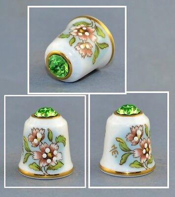 Sutherland Jawel Crowned Flower Swarovski Top Thimble # 2