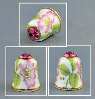 Sutherland Jawel Crowned Flower Swarovski Top Thimble # 5