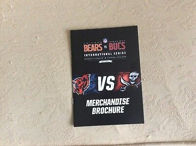 Tampa Bay Bucaneers v Chicago Bears 2011 Merchandise Brochure (Wembley)