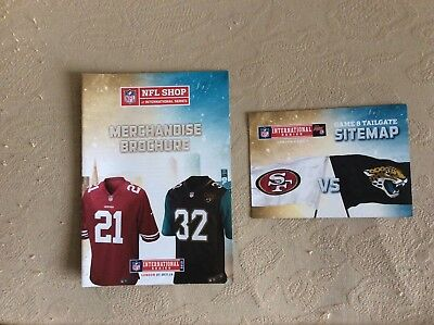 San Francisco at Jacksonville Jaguars 2013 Merchandise Brochure and Site Map