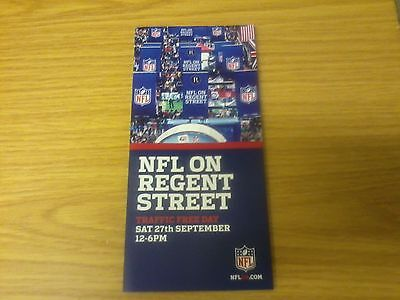 NFL on REGENT STREET 2014 Brochure (Miami at Oakland)