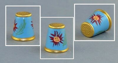 Austrian Handpainted Flowers Thimble